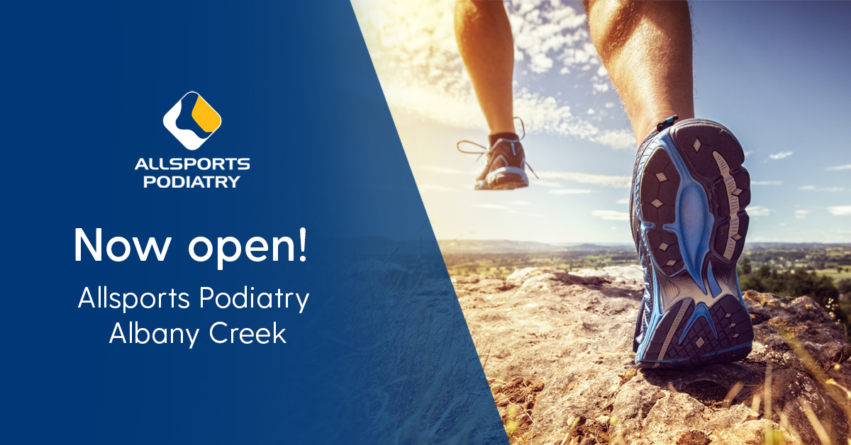 Shoes running toward Allsports Podiatry Albany Creek
